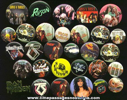 (30) Heavy Metal Music Pins & Pin Back Buttons - TPNC ...