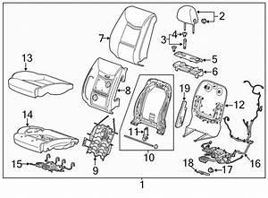 Cadillac Xts Air Bag Wiring Harness  W  O Heated