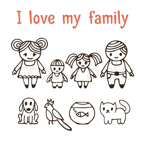 love  family happy family  stock vector