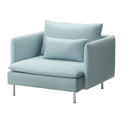 s 214 derhamn fauteuil isefall turquoise clair ikea