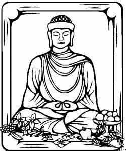 Buddha Mit Gaben Ausmalbild Malvorlage Religion