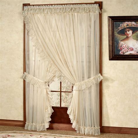 priscilla curtains for living room ninon ruffled wide priscilla curtains
