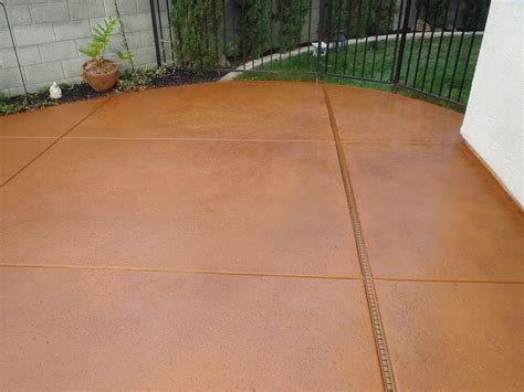 rust stains on concrete patio how to apply multi color concrete stain