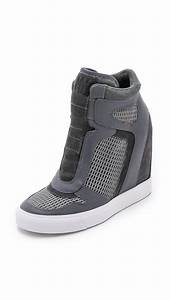 Lyst - Dkny Grand Wedge Sneakers - Grey/charcoal in Gray