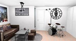 cheap belle ide de chambre ado fille dco une chambre duado With chambre jeune homme design