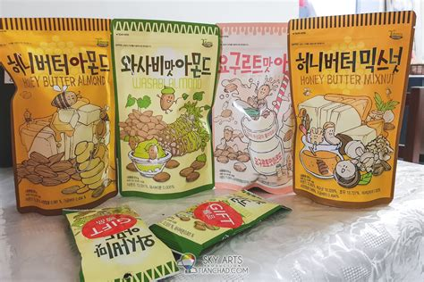 whole almonds 15 things to buy in korea spicy ramyeon honey butter