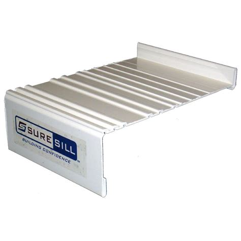 Window Sill Kit by Suresill 6 9 16 In White Sloped Sill Pan Extension