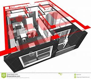 Apartment Diagram Stock Image  Image Of Flat  Inside