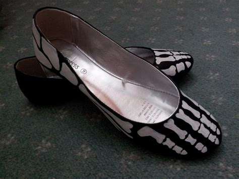 skeleton shoes  pair  painted shoes art drawing