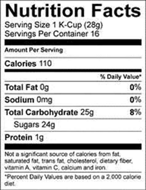 How many calories are in caramel k cup? Starbucks Caramel Ground Coffee Nutrition Facts | Besto Blog
