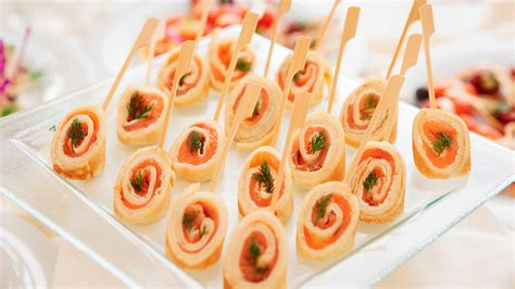 canape recipes uk salmon rolls canape ideas schwartz