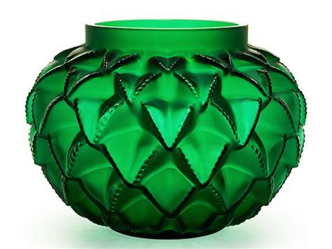vasi lalique vaso languedoc grand vert in cristallo lalique serra roma
