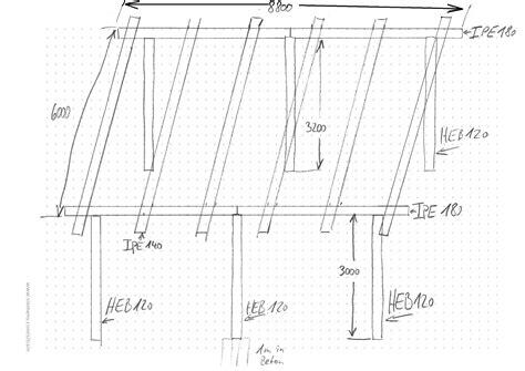 carport zeichnung statik bau baugenehmigung stahltraeger