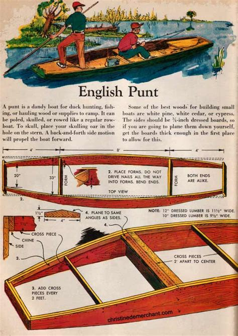 Punt Boat Plans free plans to build an style punts from an