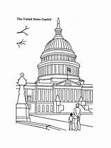 Coloring Building Capitol Pages Mycoloring Printable sketch template