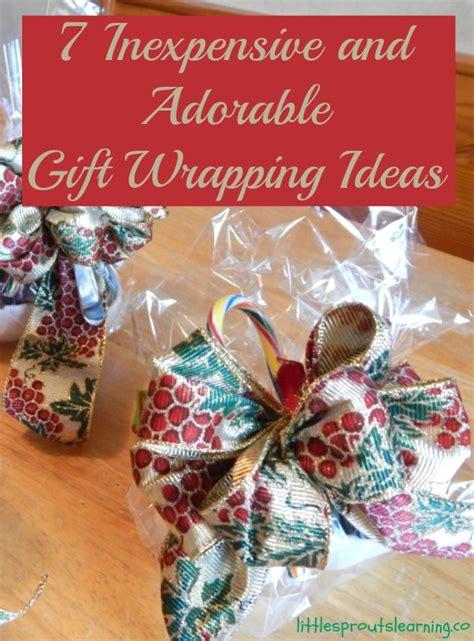7 Inexpensive And Adorable Gift Wrapping Ideas Little