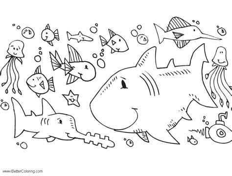 sea creatures   sea coloring pages
