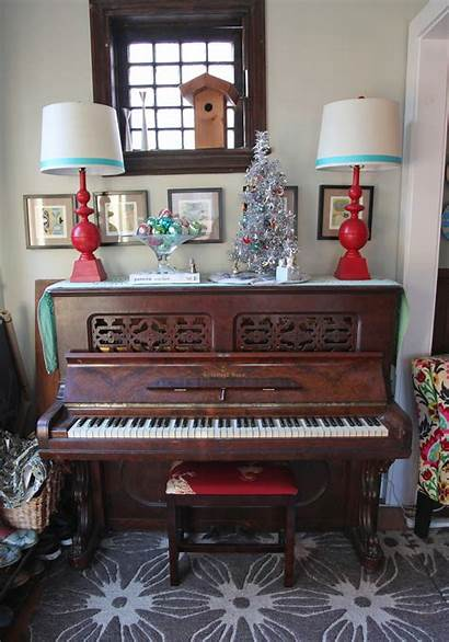 Piano Christmas Decorations Decoration Decorated Stately