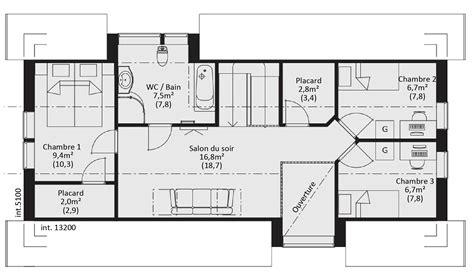 maison 5 chambres plan maison ossature bois plain pied gratuit avie home