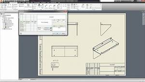 Bill Excel Template 10 Creating Drawings Autodesk Inventor Tutorials Youtube