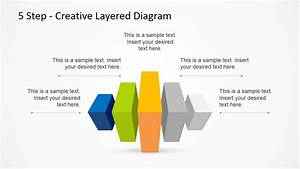 5 Step Creative Layered Diagram Powerpoint Template