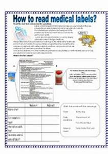 English worksheets how to read medical labels for How to read medication labels