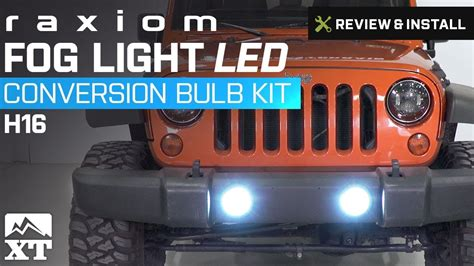 jeep wrangler raxiom fog light led conversion bulb kit