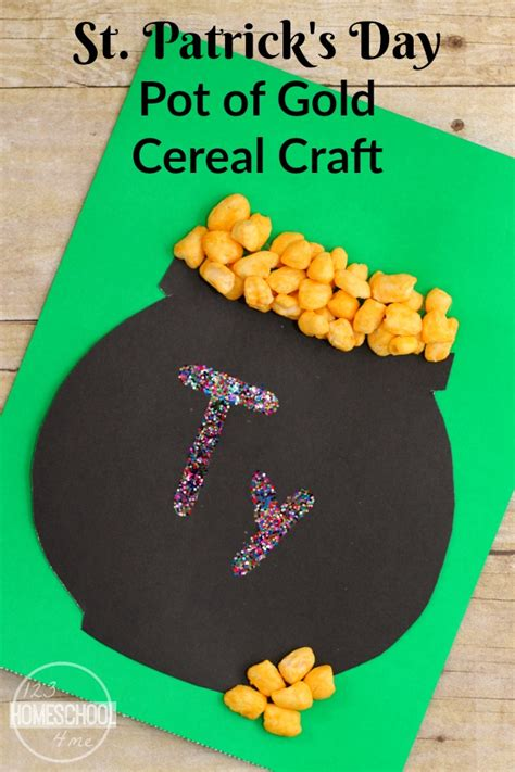 st patricks day crafts for preschoolers st s day pot of gold cereal craft 812