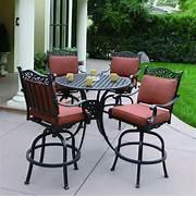 Patio Furniture Pub Table Sets by Shop Darlee Charleston 5 Piece Antique Bronze Aluminum Bar Patio Dining Set A