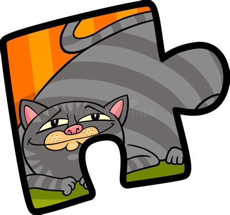 jigsaw puzzle clip art cartoon illustration stock vector