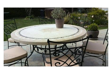 mosaic outdoor dining table 125 160cm outdoor garden round mosaic stone marble dining