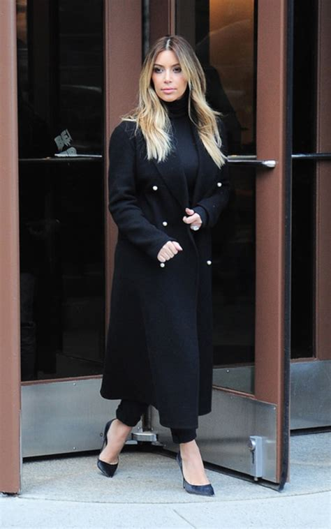 Kim Kardashian Black Turtleneck Outfit | POPSUGAR Fashion