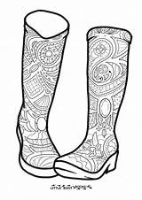 Boots Rain Coloring Pages Drawing Colouring Boot Adult Getdrawings sketch template