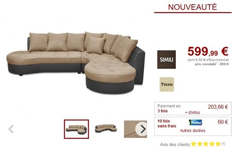 vente unique canapé angle canapé d 39 angle droit bimatière beige et gris