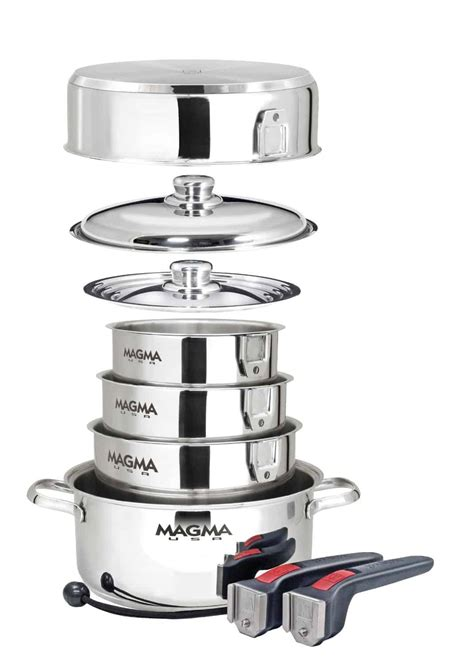 cookware rv pans camping nesting griddle electric stainless