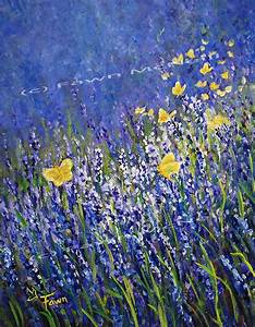 Fawn's Paintings: Lavender and Butterflies