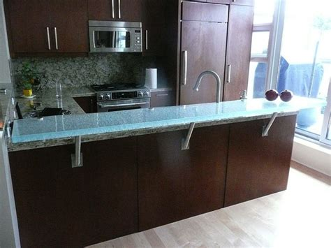 floating granite countertop brackets raised glass countertop overview cgd glass countertops