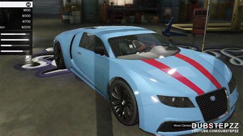 Gta 5 Where To Find Bugatti by Gta V 5 Bugatti Veyron Customisation Gameplay