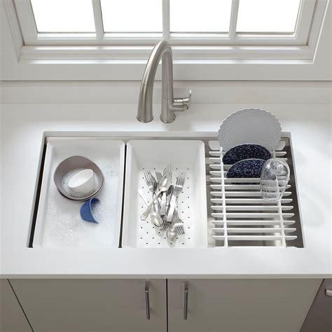 single kitchen sink accessories kohler k 5540 na prolific undermount single bowl kitchen