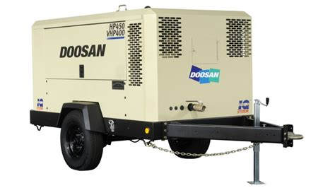 portable air compressors doosan portable power adds to dual pressure dual flow air