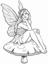 Garden Fairy Drawings Wind Stepping Stones Chimes Concept Coloring Drawing Coroflot Fairies Adult sketch template