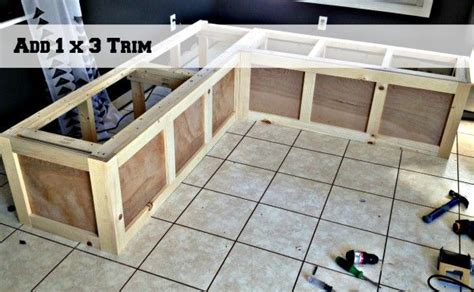 banquette storage bench plans woodworking projects plans