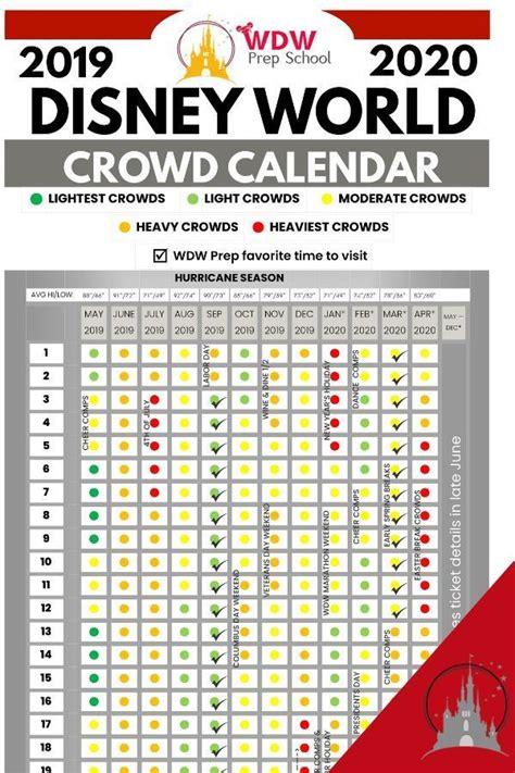 disney world crowd calendar times visit walt
