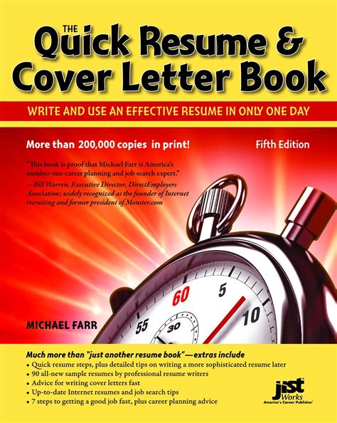 resume cover letter book write and use an