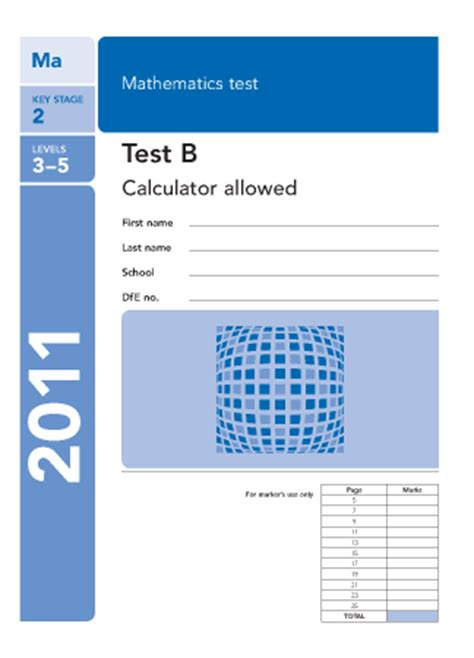 ks2 sats paper b 2011 paper b 2011 maths worksheets for