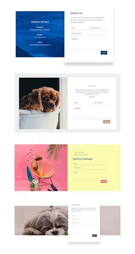 divi contact form contact form x4 layout divi theme layouts