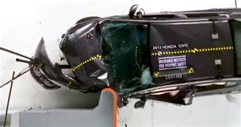 siege auto 1 2 3 crash test honda civic dominates iihs small car crash tests photos