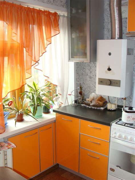cuisine orange les dernières tendances pour le meilleur rideau de cuisine
