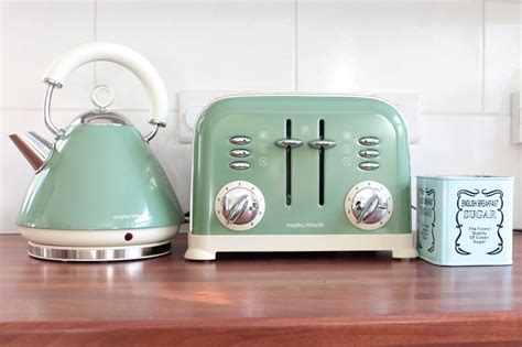 Green Kettle And Toaster Set - a tour of our new kitchen