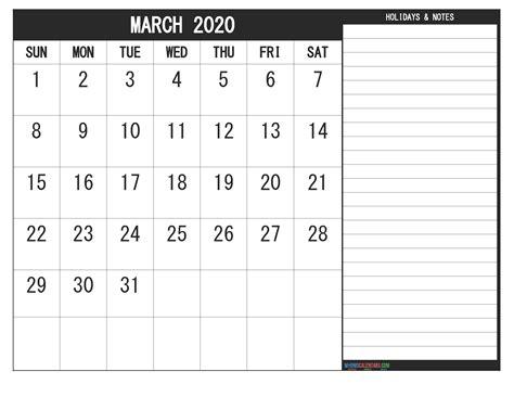 march  calendar  holidays  printable